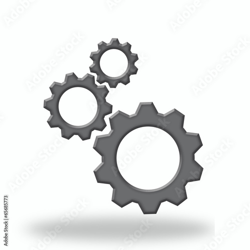 Gear icon with place for your text
