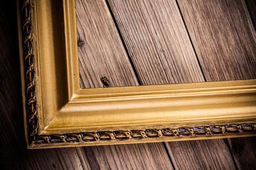Half wood frame