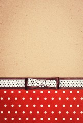 vintage background with polka dot paper