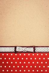 vintage background with polka dot paper