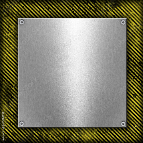 metal on grunge striped background