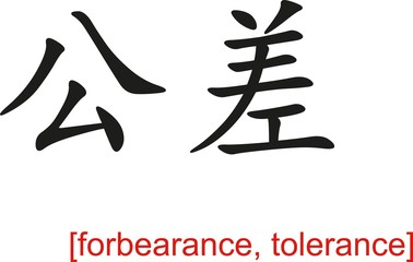 Chinese Sign for forbearance, tolerance