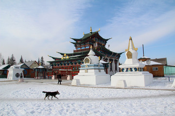The Buddhist Ivolga Monastery in Buryatia, Russia