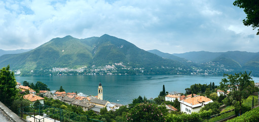 Lake Como (Italy) summer panorama.