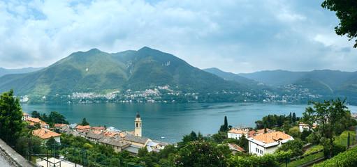 Lake Como (Italy) summer panorama.
