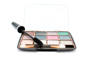 isolated eyeshadow and mascara
