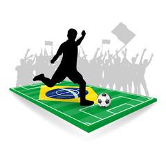 fussballfeld mit spieler VI