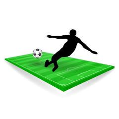 fussballfeld mit spieler publikum brasilien V