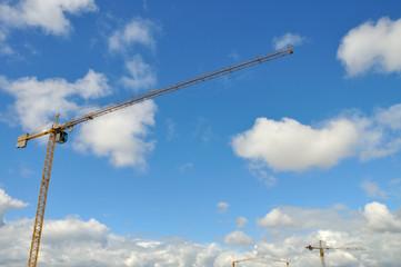 Cranes and sky
