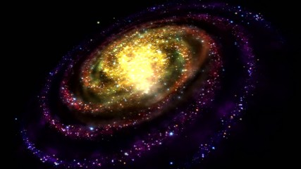 Colorful Rotating Galaxy - Loop