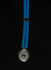 Stethoscope isolated on black