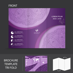 Purple brochure template
