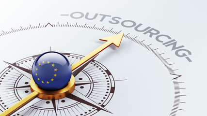 European Union  Outsourcing Concept.