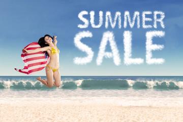 American summer sale concept