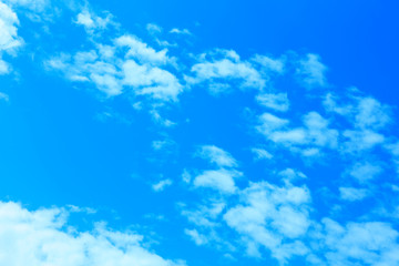 Clouds on blue sky