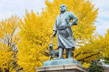 Statue of Saigo Takamari at Ueno Park in Tokyo