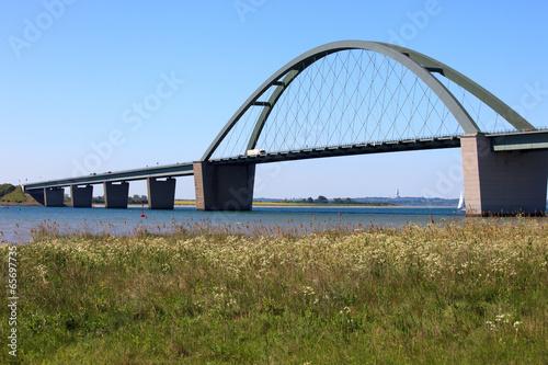 Leinwanddruck Bild Fehmarnsundbrücke