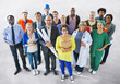 Diverse Multiethnic People with Different Jobs - 65697900