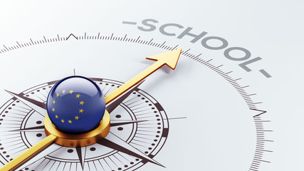 European Union School Concept