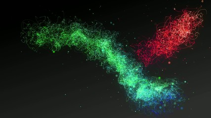 Explosive Wave Particles Colorful
