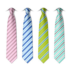 Striped ties template