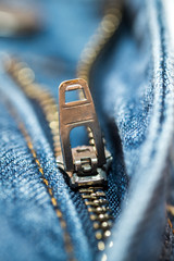 Blue Jean zipper