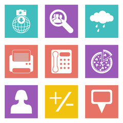 Color icons for Web Design set 49