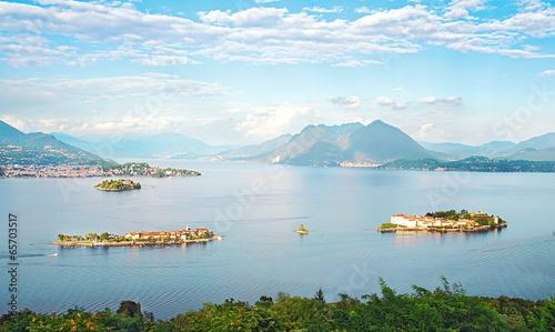 Deurstickers Alpen Les îles Borromées sur le Lac Majeur