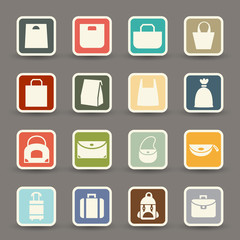 Bag icons.vector eps10