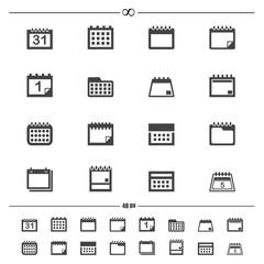 calendar icons.vector eps10
