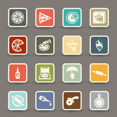 Pizza icons.vector eps10