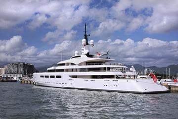 Yacht With Helicopter Pad