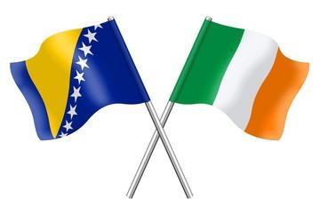 Flags : Bosnia-Herzegovina and Ireland