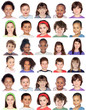 Photo collage of children