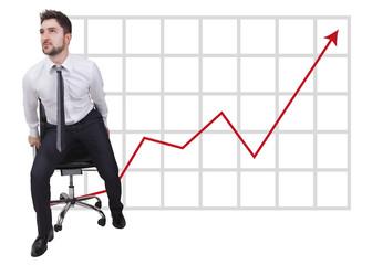 businessman in start up on trend