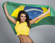 Portrait of beautiful brazilian football fan