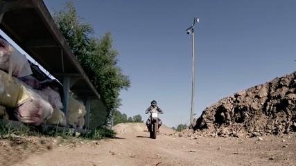 Offroad motorbike crossing