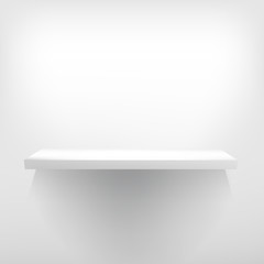 Detailed illustration of white shelve. + EPS10