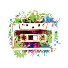 Cassette tape background