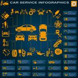 Fototapety Car service, repair Infographics