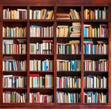 Bookshelf full with books - 65707740