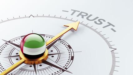 United Arab Emirates. Trust Concept