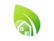 logo green house and shelter plants symbol icon