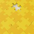 Missing 3d puzzle piece as concept