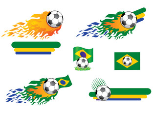 Soccer. Set of design elements.