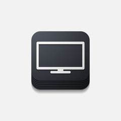 square button: monitor