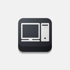 square button: computer