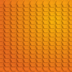 Abstract orange hexagon background - vector illustration