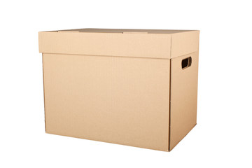 Corrugated cardboard box isolated on white background