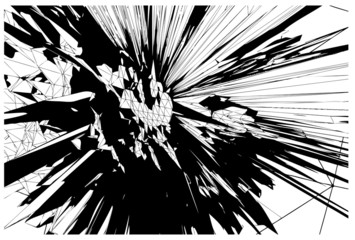Core explosion vector background
